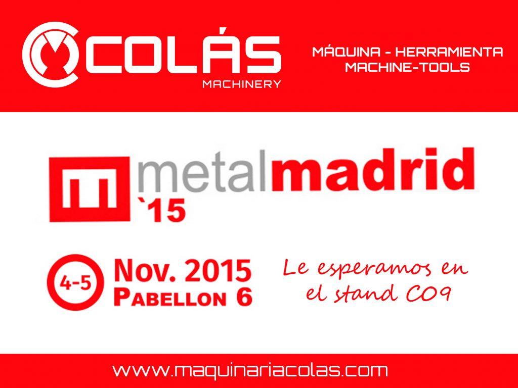 Maquinaria industrial de ocasion en MetalMadrid 2015