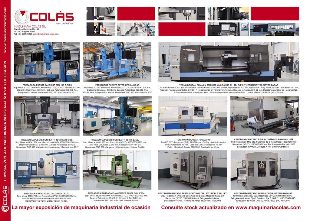 Maquinaria para el metal usada en stock