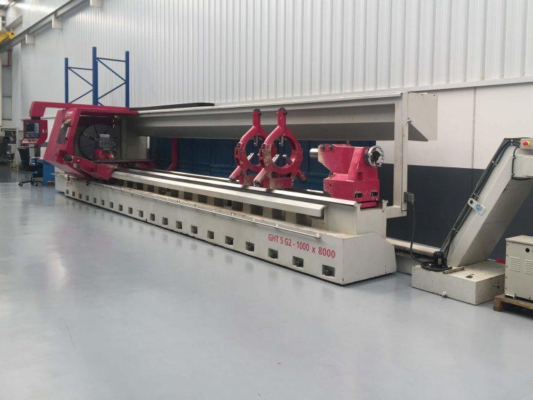 Used GEMINS GHT-5 G2 1000X8000 CNC Lathe