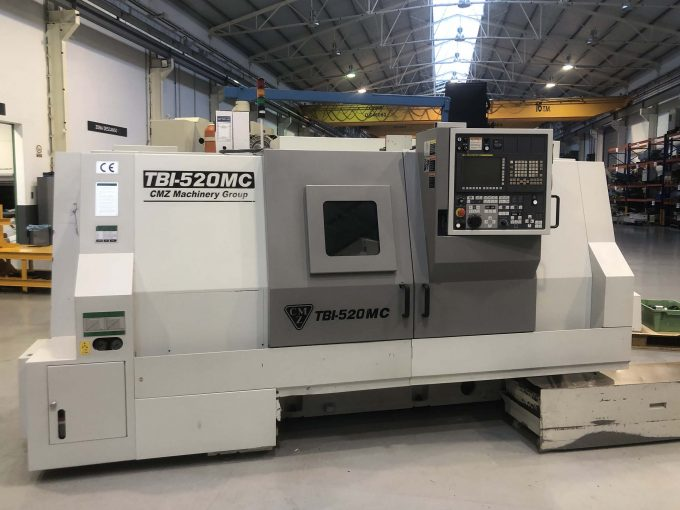 Used CMZ TBI-520 Lathe with C axis and driven tools